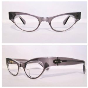 Vintage Cateye, Smoke Gray, Made in France, 1950's